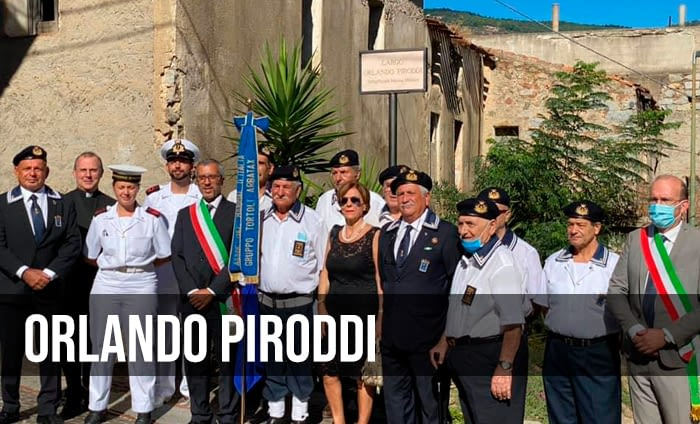 Orlando Piroddi, intitolata una via al marinaio del Velella.