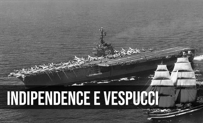 L'Amerigo Vespucci e l'uss indipendence