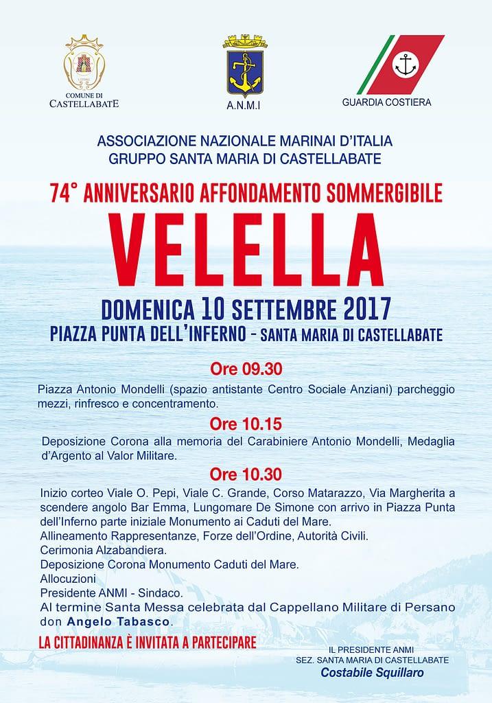 commemorazione 74° anniversario velella